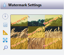 Watermark preview with the new bulkWaterMark profile editor