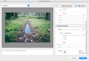 Step 6a: Setting up a Graphic Watermark in Lightroom