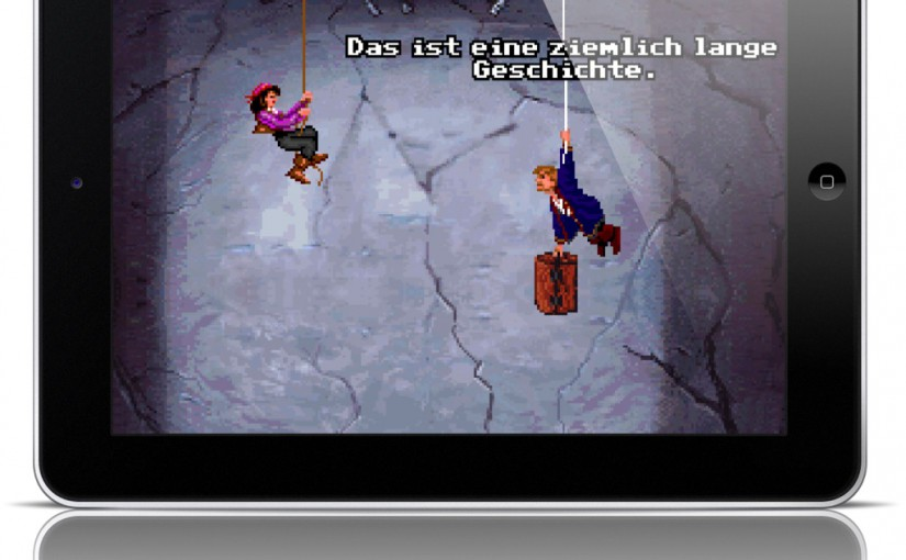 Monkey Island 2 on an iPad