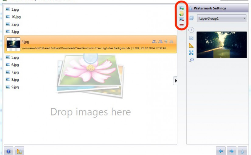 New version: Batch List UI improvements and new supported image file formats to watermark photos