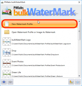 Step 1: Create a new Watermark