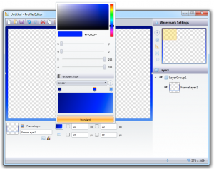 Farben mischen für die Rahmenfarbe