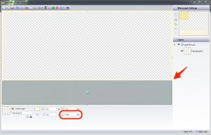 Increasing the bottom border of the Frame Layer to activate the Placeholder