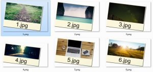 Instant Photo Frame Watermark applied to some photos