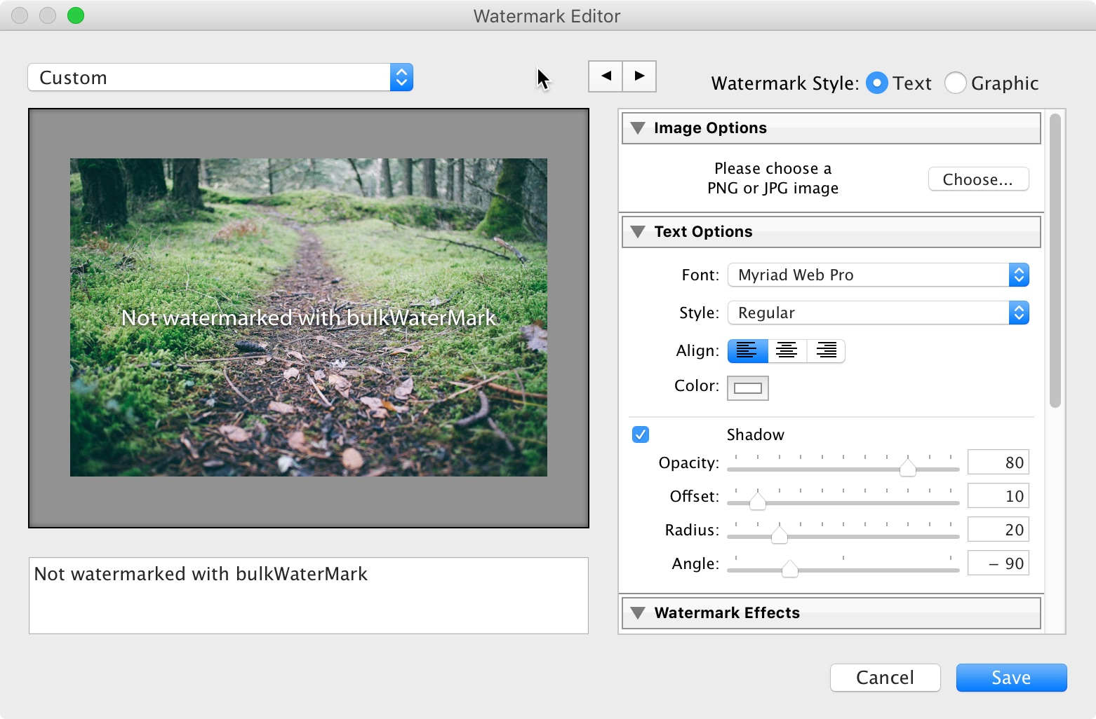 Export and watermark your photos in Photoshop