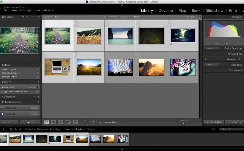 Step 1: Selecting photos to export and watermark