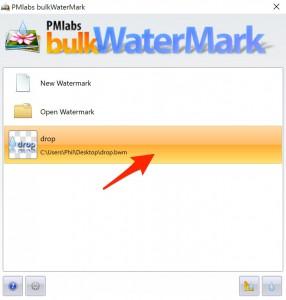Der bulkWaterMark Startbildschirm unter Windows 10