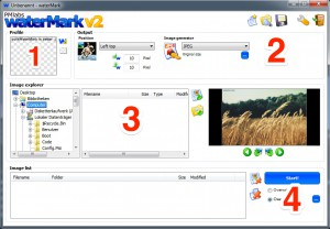 Configuring a batch watermarking run with waterMark V2