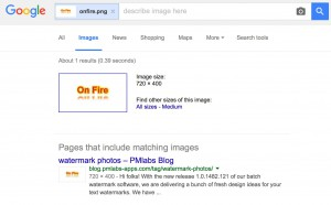 "The search result with an image file as ""keyword"""
