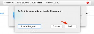 Adding our Apple Developer ID to sign the app for deployment